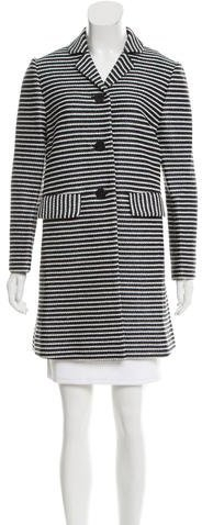 Tory Burch Tory Burch Striped Knee-Length Coat w/ Tags w/ Tags