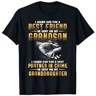 I asked God For A Best Friend He sent my Grandson Tshirt