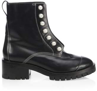 3.1 Phillip Lim Hayett Faux Pearl Leather Lug Sole Boots