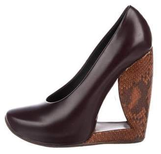 Marc Jacobs Leather Wedge Pumps