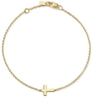 Bloomingdale's 14K Yellow Gold Small Cross Bracelet - 100% Exclusive