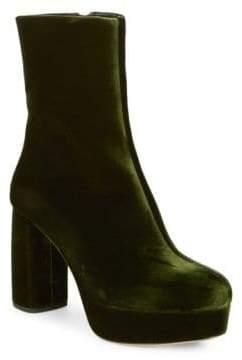 Miu Miu Velvet Ankle Boots