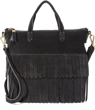 Madewell Suede Mini Fringe Transport Tote $158 thestylecure.com