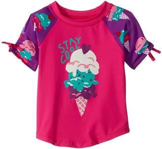 Hatley Ice Cream Treats Short Sleeve Rashguard Girl's Swimwear
