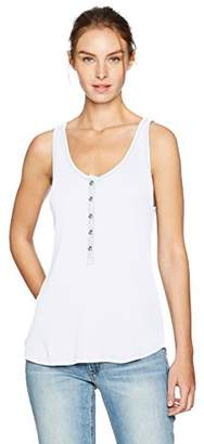 LAmade Women's Sleeveless Button up Rib Tank