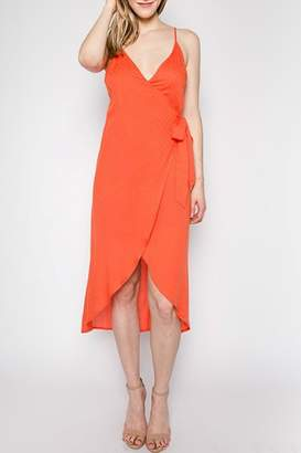 lunik Wrap High-Low Dress