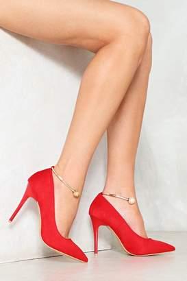 Nasty Gal Talk 'Em Around Anklet Heel