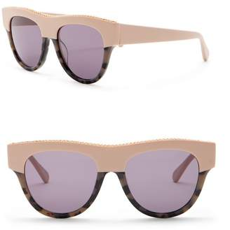Stella McCartney 51mm Chain Browline Sunglasses