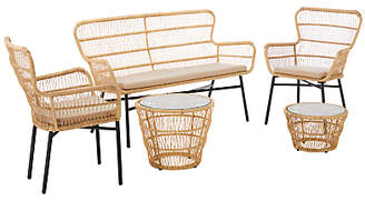 John Lewis & Partners Cuba 4 Seater Garden Lounging Tables and Chairs Set, Natural