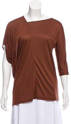 Zero Maria Cornejo Asymmetrical-Neck Knit Top