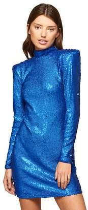 Miss Selfridge Blue Glitter Sequin Dress