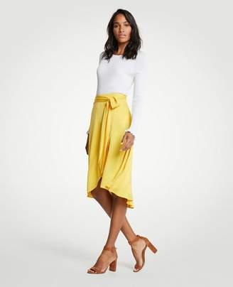 Ann Taylor Petite Tie Waist Wrap Maxi Skirt