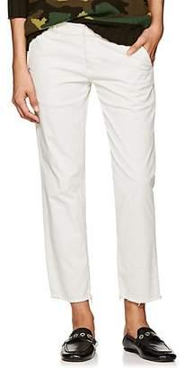 Nili Lotan Women's Hampton Cotton Crop Trousers - Eggshell