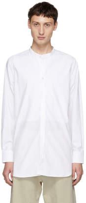 Studio Nicholson White Stand Collar Shirt