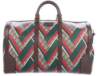 Gucci GG Chevron Canvas Duffle Bag