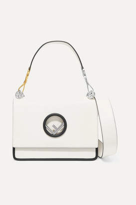 Fendi Kan I Leather Shoulder Bag - White