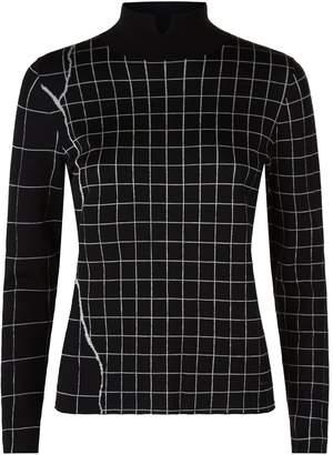Akris Grid Cashmere-Silk Sweater