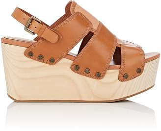 Derek Lam 10 Crosby WOMEN'S HEATH LEATHER PLATFORM-WEDGE SANDALS