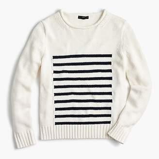 J.Crew Women's 1988 striped rollneckTM sweater