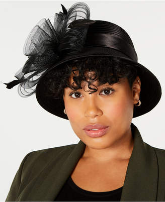 Cloche August Hats Pleated Satin