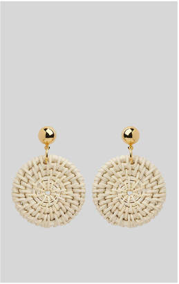 Whistles Straw Weave Circle Earring