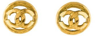 Chanel CC Clip-On Earrings $375 thestylecure.com
