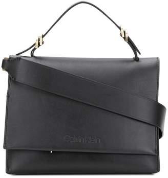 Calvin Klein foldover top tote