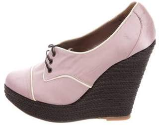 Tabitha Simmons Oxford Espadrille Wedges