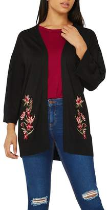 Dorothy Perkins Black Embroidered Cardigan