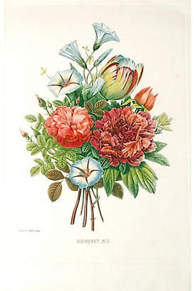 One Kings Lane Vintage Redoute Bouquet
