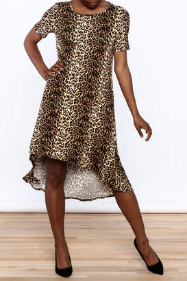 Solo La Fe Cheetah High Low Dress