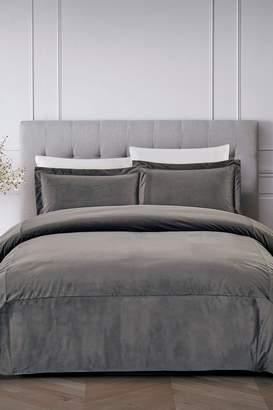 California Design Den by NMK Luxury French Velvet Comforter Set - True Grey
