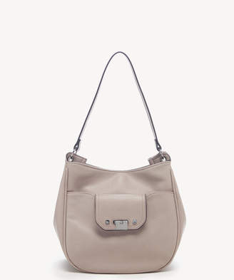 Sole Society Women's Kaii Hobo Bag Shoulder Faux Leather Stone From