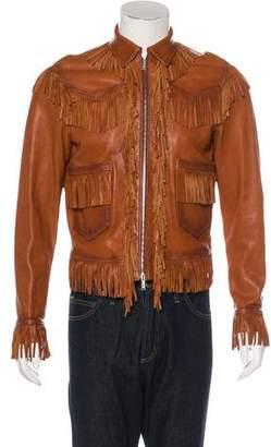 DSQUARED2 Leather Fringe Jacket