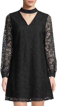 Cynthia Steffe Cece By Paisley-Lace Choker A-line Dress