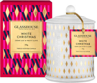 Peter Alexander Glasshouse Fragrances Limited Edition White Christmas Candle 350G