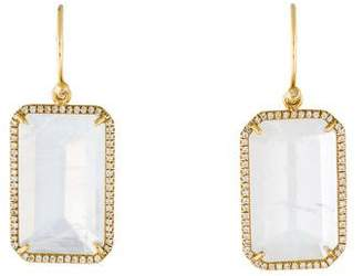 Irene Neuwirth 18K Moonstone & Diamond Halo Earrings