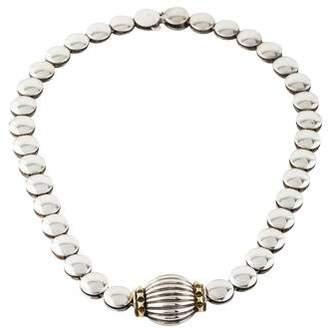 Lagos Two-Tone Collar Necklace
