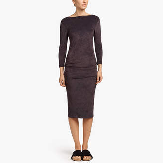 James Perse VELVET LOW BACK SKINNY DRESS