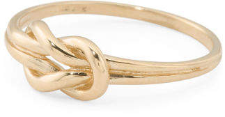 Made In Italy 14k Gold Nautical Knot Ring
