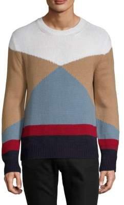 Valentino Maglia Colorblock Cashmere Sweater