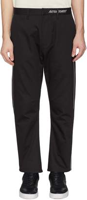 SIKI IM / DEN IM Metallic piped outseam pants