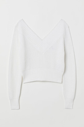 H&M Off-the-shoulder Sweater - White