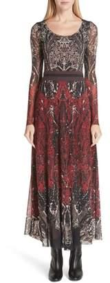 Fuzzi Paisley Tulle Two-Way Dress