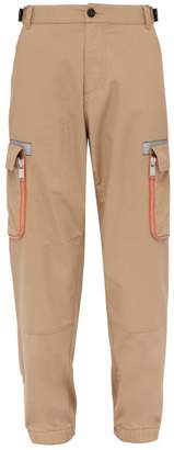 Heron Preston Logo Embroidered Cargo Trousers - Mens - Beige