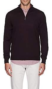 Barneys New York Men's Wool Half-Zip Sweater - Red
