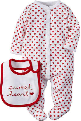 Carter's Valentine's Day Sleep & Play Set - Baby Girls newborn-9m