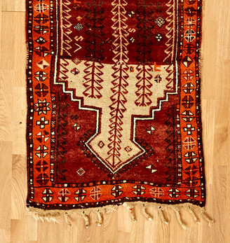 Rejuvenation Hand-Knotted Kurdish Runner w/ Tree of Life Motif