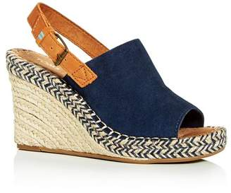 99bb7faff7f Leather Slingback Espadrille Wedge - ShopStyle