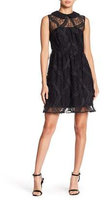 Nanette Lepore NANETTE Sheer Yoke Lace Dress